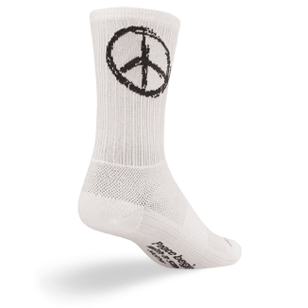 SockGuy SGX 6in Peace Performance Cycling/Running Socks (Peace - L/XL) Size X-Large by SockGuy