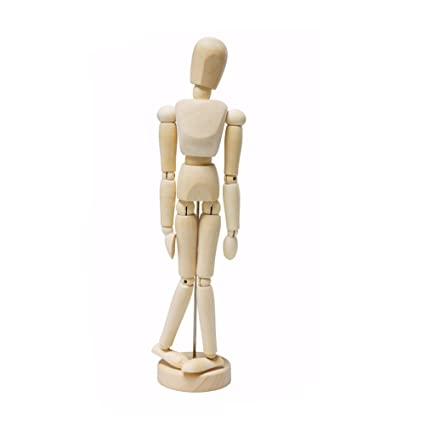 Lays Wooden Male Manikin Human Body Mannequin For Art Drawing Sketch Painting Coloring 30cm