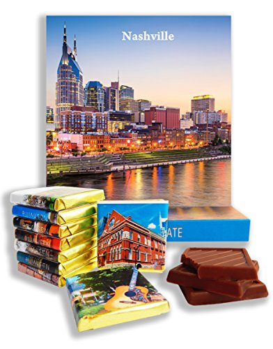 DA CHOCOLATE Candy Souvenir NASHVILLE Chocolate Gift Set 5x5in 1 box - Mall Park River