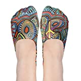 Hippie Hip Hop Stay Soft Cotton No-show Socks Sweat Uptake Fashion Low Cut Socks For Laides