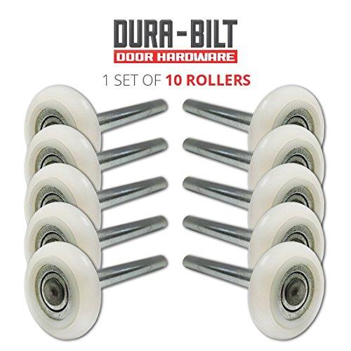 DURA-BILT Ultra-Quiet 2' Nylon Garage Door Roller with 13-Ball Bearing and 4' Stem (10 Pack)