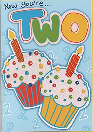 Childrens Birthday Card For Two 2 Year Old Boy