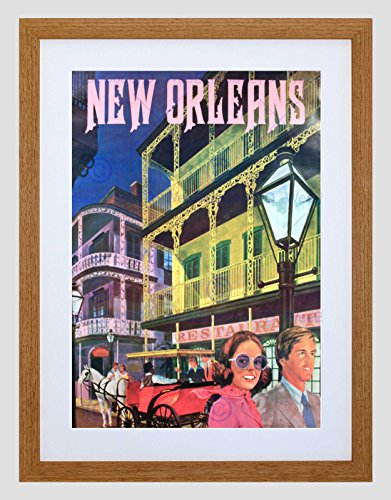 New Orleans Framed Photograph (TRAVEL NEW ORLEANS AMERICA USA CITY BLACK FRAMED ART PRINT PICTURE B12X10193)