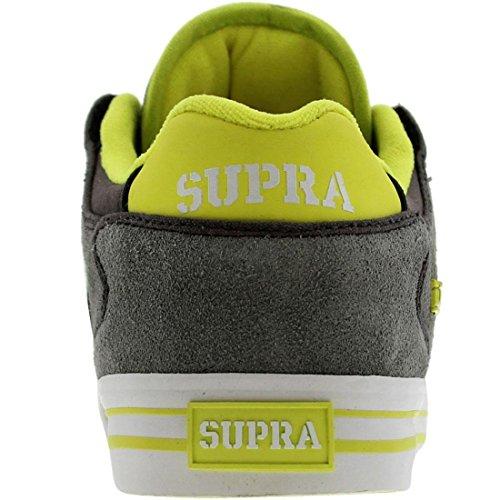 Supra Vaider Low (grigio Pelle Scamosciata / Neon)