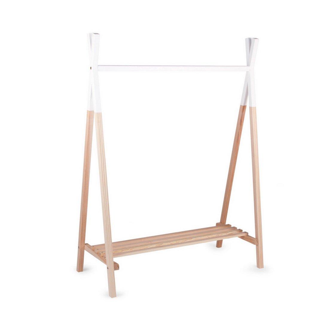 Childwood–-Asta Appendiabiti Tipi di moderno abito Unterbett cameretta in vero legno di faggio Tipi Stil, 107x 48x137cm, colore: naturale 3 horses