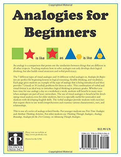Amazon.com: Analogies for Beginners (9781593630461): Lynne Chatham ...
