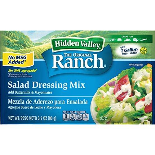 Hidden Valley Original Ranch Salad Dressing Mix, 3.2 Ounce Packet, Pack of 12 (21003) by Hidden Valley