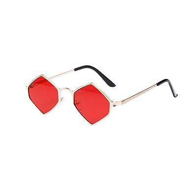 1f468e5339 Happy-day Transparentes Fiesta Aviador Unisexo Mujer Hexagonal Color Marco  de Metal Sombras Gafas de