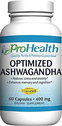 Amazon Com Prohealth Optimized Ashwagandha Ksm 66 400 Mg 60