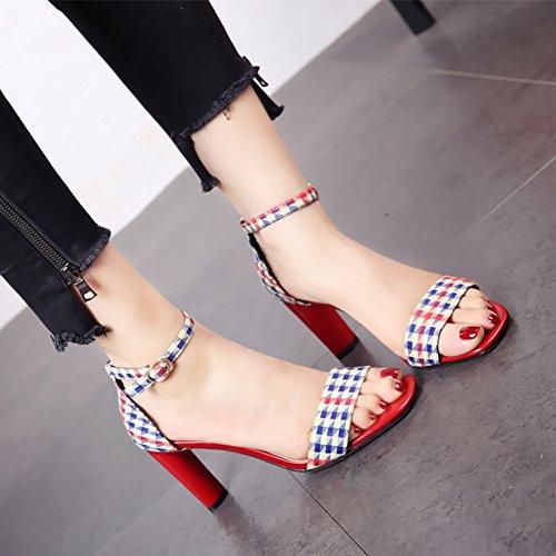 tacco alta eleganza parte europeo toe toe estate a sandali lady con banchetti In stile scarpe YMFIE moda per q0xwApUU7W