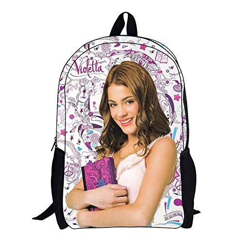 Violetta backpack School Bags Girls Children 3D Lady Shoulder Bags for Women