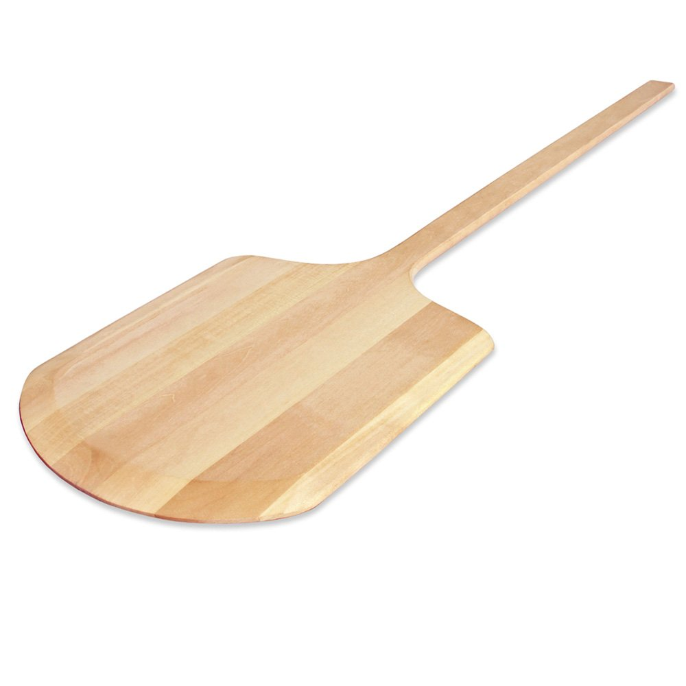 New Star Foodservice 50240 Wooden Pizza Peel, 12'' x 14'' x 42'', Wood by New Star Foodservice