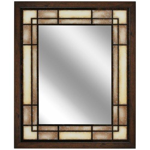 Head West Tea Glass Rectangle Mirror, 25-Inch by 31-Inch ()