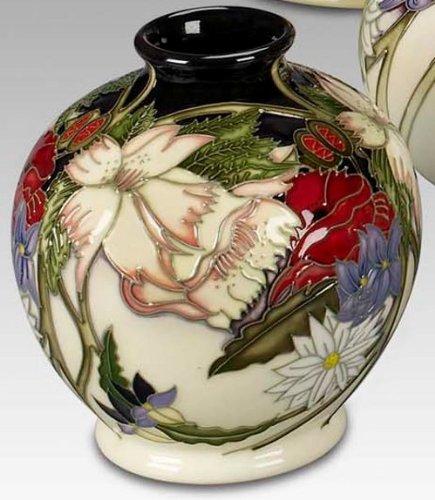 Moorcroft Pottery Ophelias Flowers 41/4 Vase: Amazon co uk