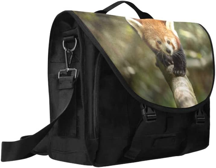Womens Briefcase Laptop Beautiful Cute Red Panda Animal Multi-Functional Classic Shoulder Bag Fit for 15 Inch Computer Notebook MacBook