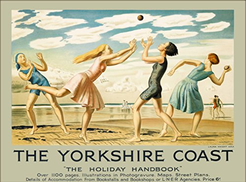 (A SLICE IN TIME Yorkshire Coast The Holiday Handbook English Seacoast England Great Britain United Kingdom Vintage Railways Railroad Travel Advertisement Art Poster Print. Measures 10 x 13.5 inches)