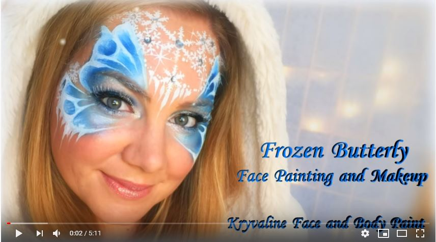 Frozen Face And Body Art