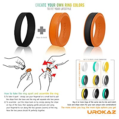 UROKAZ Silicone Wedding Ring, The Only Ring that Fits Your Lifestyle - Whether You are Single or Married, Ring is Right for You - It is Fashionable, Flexible, and Comfortable