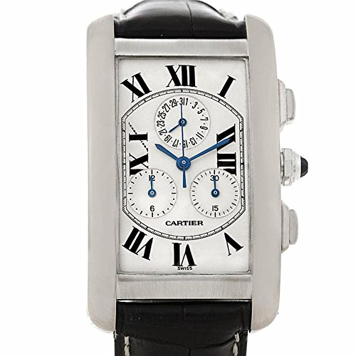 Cartier Tank Americaine quartz mens Watch W2603358 (Certified Pre-owned)