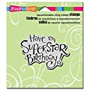 Stampendous CRV331 Cling Stamp, Superstar Birthday