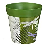 New Creative Green Dragonfly and Fern 8-inch Outdoor Safe HUM Flowerpot Planter