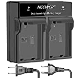 Neewer LED Dual Channel Digital Battery Charger for Nikon EN-EL15 Battery, Nikon D600 D610 D7000 D7100 D750 D800 D800S D800E D810 DSLR Cameras, and MB-D11 MB-D12 MB-D14 MB-D15 MB-D16 Grips(US/EU Plug)