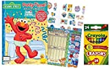 Sesame Street Potty Time Coloring and Activity Book with Full Color Check List and Potty Time Progress Chart That's 20 X 19 Inches Plus 24 ct Crayola Crayons