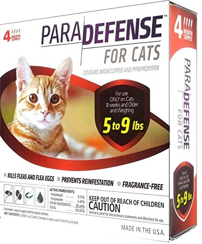 Para Defense 5.1-9 lb Cat Pet Flea Control Supply, Small by Para Defense