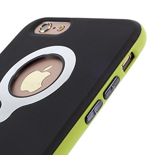 Apple iPhone 6/6S Étui Housse Case Gel/TPU Bumper 2en 1Vert decui Vert/TPU Coque en gel