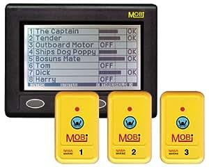 Nasa Man OverBoard - Sistema de alarma de hombre al agua tres detectores, color gris
