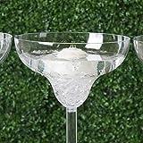 Mikash 18 Clear Plastic Margarita Vases Cups Wedding Party Centerpieces Decorations | Model WDDNGDCRTN - 14191 | 16 Pieces