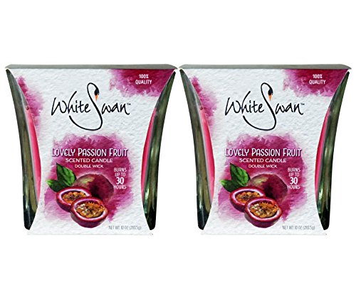White Swan Scented Candles, Lovely Passion Fruit 10 oz (2 PACK) from White Swan