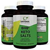 Exogenous BHB Keto Salts Supplement Ketones for Weight Loss - Ketogenic Fat Burn - Natural Keto Weight Loss for Men and Women Magnesium, Calcium, Sodium BHB Pure 800 mg Capsules from Earthmade Sciences