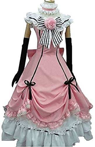 Costumes Black Butler (Decalon Black Butler Cosplay Costume Kuroshitsuji Ciel Dress Hat Gloves Uniforms)