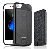 iPhone 8/7/6s/6 Battery Case, Shineam 4000mAh Portable Protective Charging Case with Detachable Battery Pack Rechargeable Extended Battery Charger Case, Black