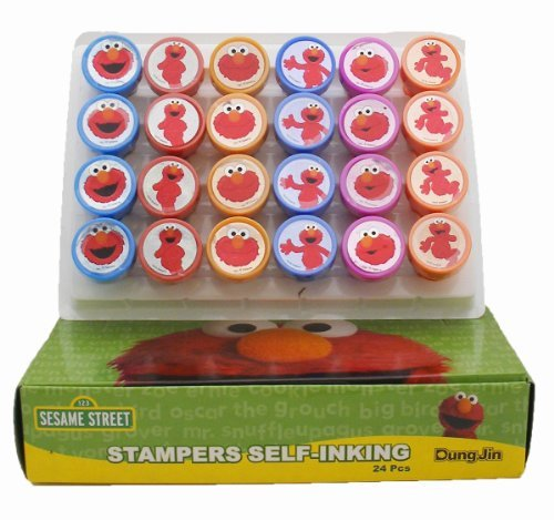 Elmo Stampers Party Favors (10 Stampers) (Elmo Girl Party Supplies)
