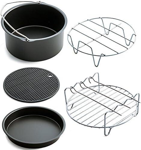 YOUNGE - Set di 5 accessori per friggitrice ad aria per Gowise Phillips Cozyna Fit 3.7-5.8QT, 18 cm
