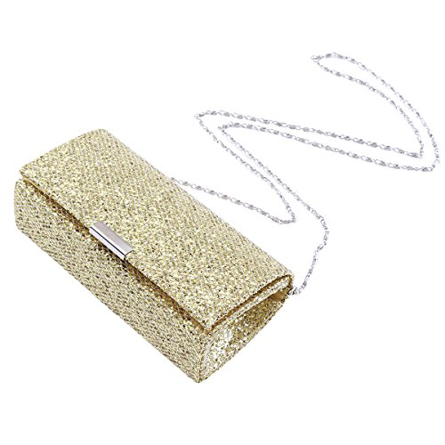 Party Sequins Womens Gold Medium Damara Handbag Evening Clutch Elegant Full xYH4an4
