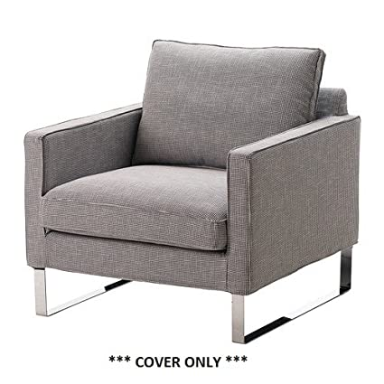 Astonishing Ikea Mellby Cover For Armchair Eldris Black White Interior Design Ideas Ghosoteloinfo