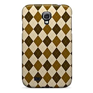 For Galaxy S4 Protector Case Chestnut Argyle Phone Cover