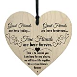 Jonerytime Wooden Hanging Gift Plaque Pendant Family Friendship Love Sign Wine Tags Decor