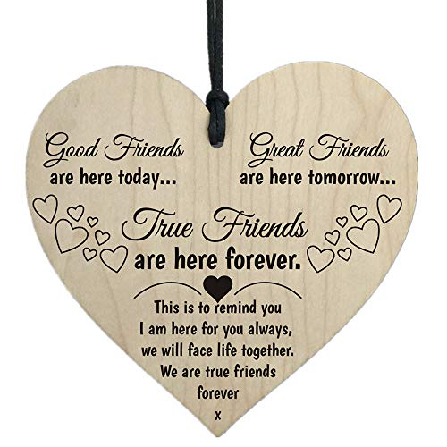 Clearance Sale!DEESEE(TM)Wooden Hanging Gift Plaque Pendant Family Friendship Love Sign Wine Tags Decor