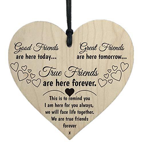 Jonerytime Wooden Hanging Gift Plaque Pendant Family Friendship Love Sign Wine Tags Decor