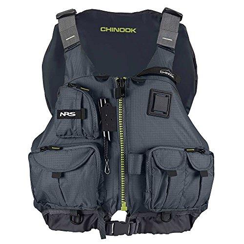 NRS Chinook Fishing Lifejacket-Charcoal-L/XL ()