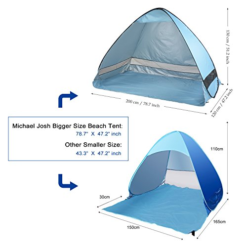 Oversized Pop UP Beach Tent Sun SheltersAutomatic XXL Lightweight Portable Family Anti UV Cabana  sc 1 st  Lifestyle Updated : small pop up beach tent - memphite.com