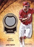 #9: 2017 Topps Tier One Relics #T1R-MT Mike Trout Game Worn Los Angeles Angels Jersey Baseball Card - Gray Jersey Swatch - Only 331 made!
