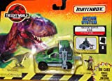 Matchbox the Lost World Jurassic Park Action System Tracker Trapper 4x4 with Eddie Carr and Pachycephalosaurus