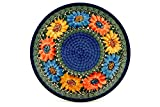 Polish Pottery Lunch Plate 10-inch Summer Dance UNIKAT made by Ceramika Artystyczna