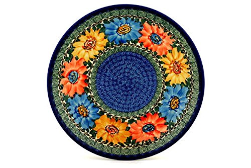 Polish Pottery Lunch Plate 10-inch Summer Dance UNIKAT made by Ceramika Artystyczna by Polmedia Polish Pottery