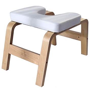 DLT Silla de Yoga de Banco para Cabeza de Madera, Silla de Yoga de Roble